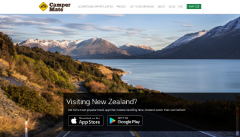 Screenshot of CamperMate homepage.
